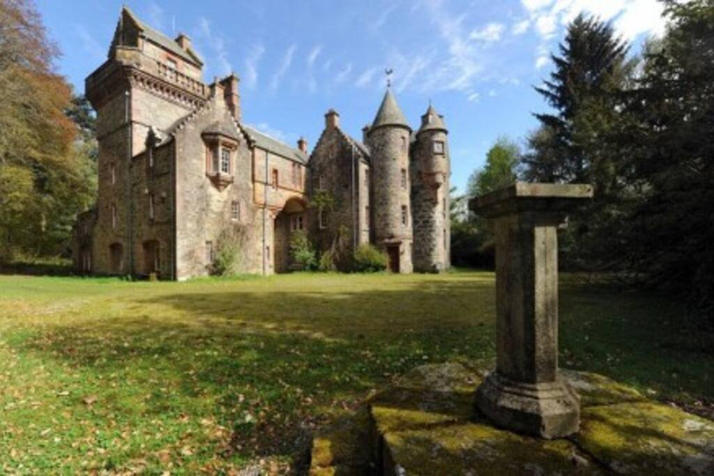 View of Blackcraig Castle  from old Sundial