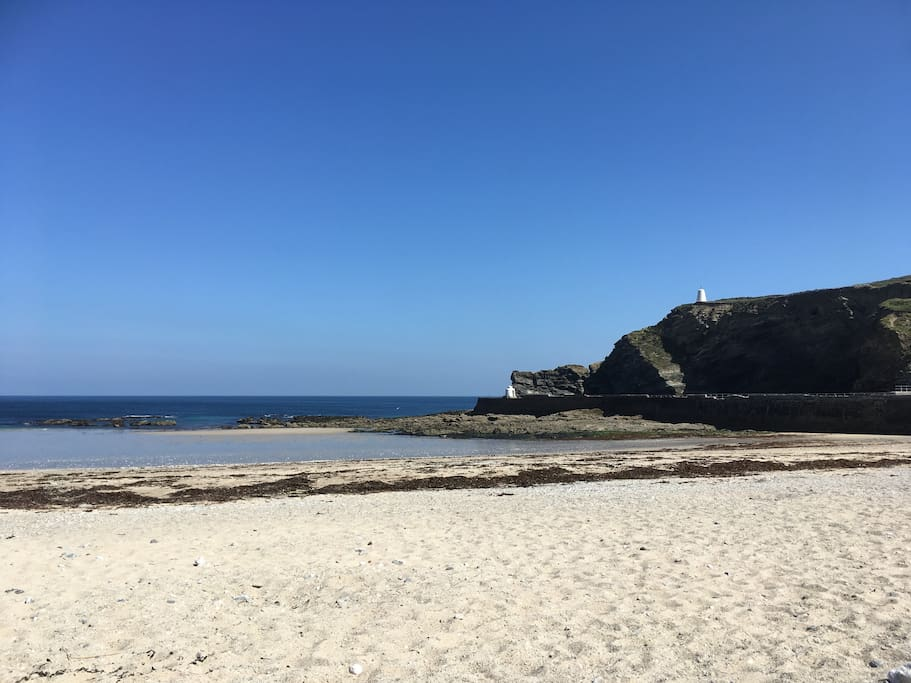 Portreath beach - just 20 minutes drive from Apartment