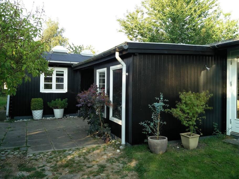 House entrance, with car port