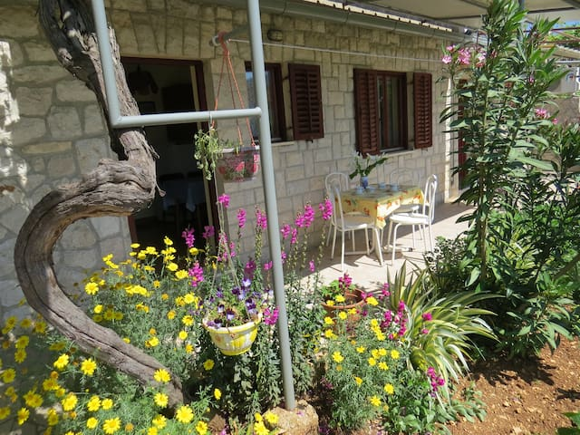 Pleasant garden apartment-Old town and beaches5min - Cres - Leilighet