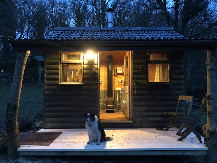 Quiet Cosy Outdoor Cabin, with Woodburner.