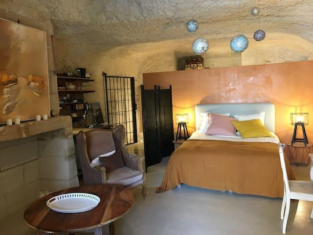 """Chambre d'hôte """"Le troglo de la Loire sauvage"""""""