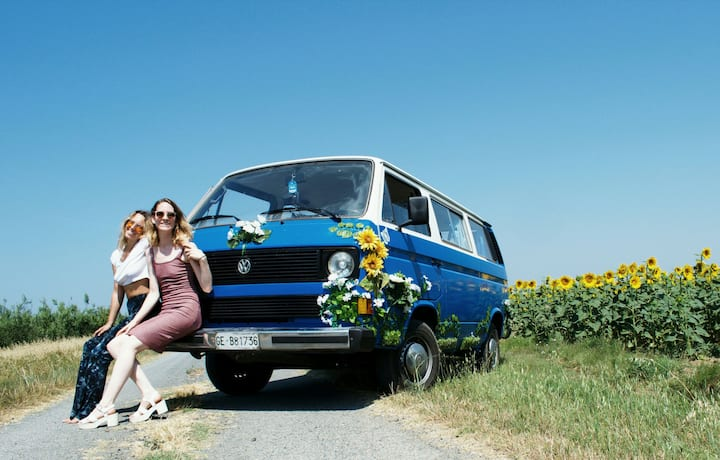 Hippy Van in Italian Riviera !