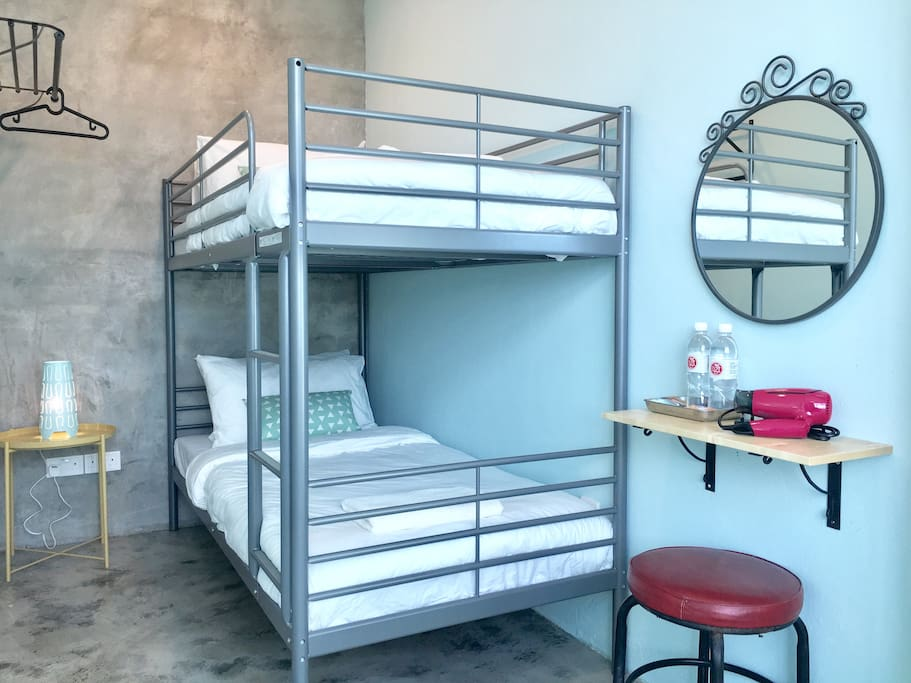 Bunk Bed with comfortable bedding