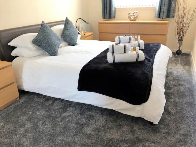 Recently refurbished bedroom.