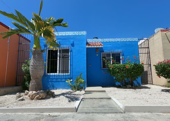 Cozy Casa Azul in Mexico! Walk to Xcacel Beach
