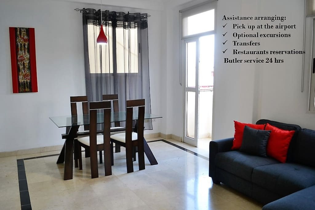 Full assistance + personalized service = nice experiences. We assist to you arranging activities for justifying the license: people to people. We provide a mobile with a cuban line for using during your staying.