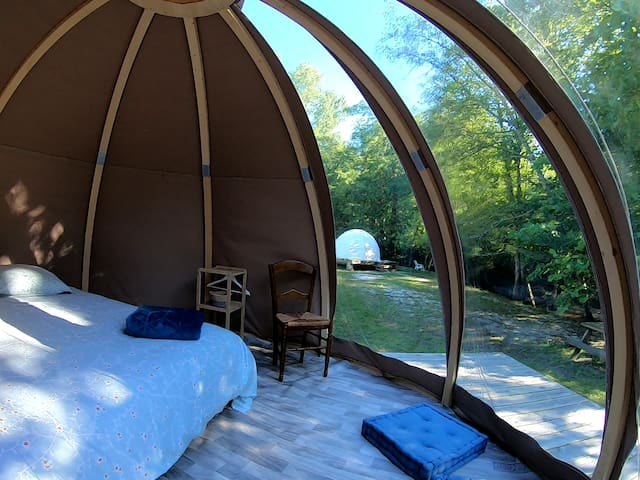La tente Wigwam 1 du Domaine au pas de l'âne
