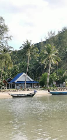 Tropical paradise! Secluded beachfront house!