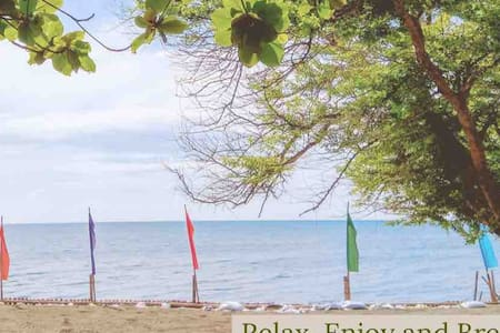 Unassuming beach room Iloilo w/ toilet and shower