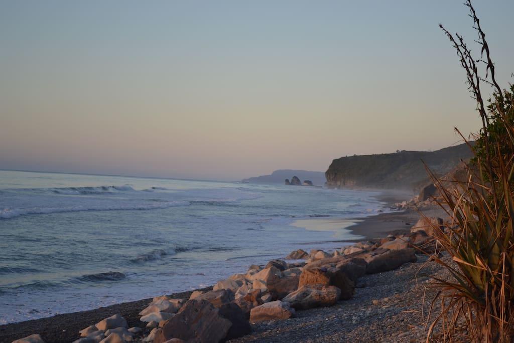 Gorgeous wild West Coast Rapahoe beach