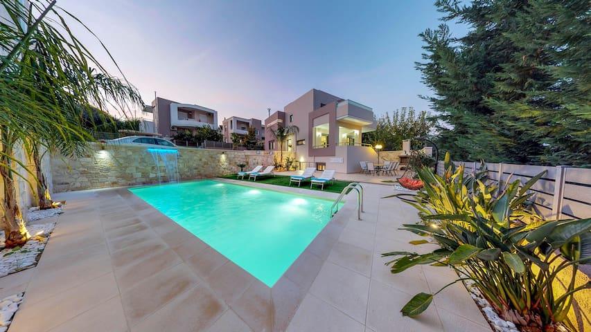 Style Luxury Villa In Daratso, Chania, Crete