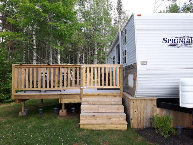 Cozy Trailer at Campground in Cavendish PEI