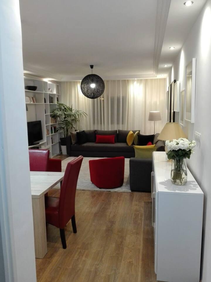 Un très bel appartement fait avec goût. Pas cher!