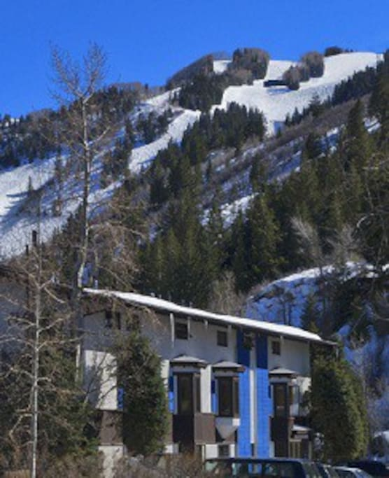 Lodge with Aspen Mnt in the background