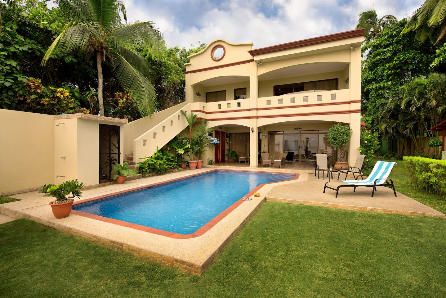 5 bedroom luxury oceanfront home on jaco beach houses for rent