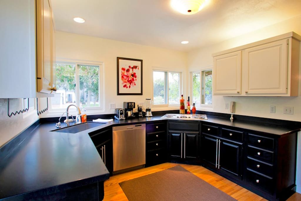 Fully equipped kitchen has everything you need to enjoy preparing meals in this home.