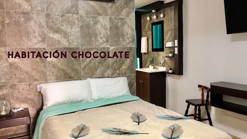Habitación chocolate.