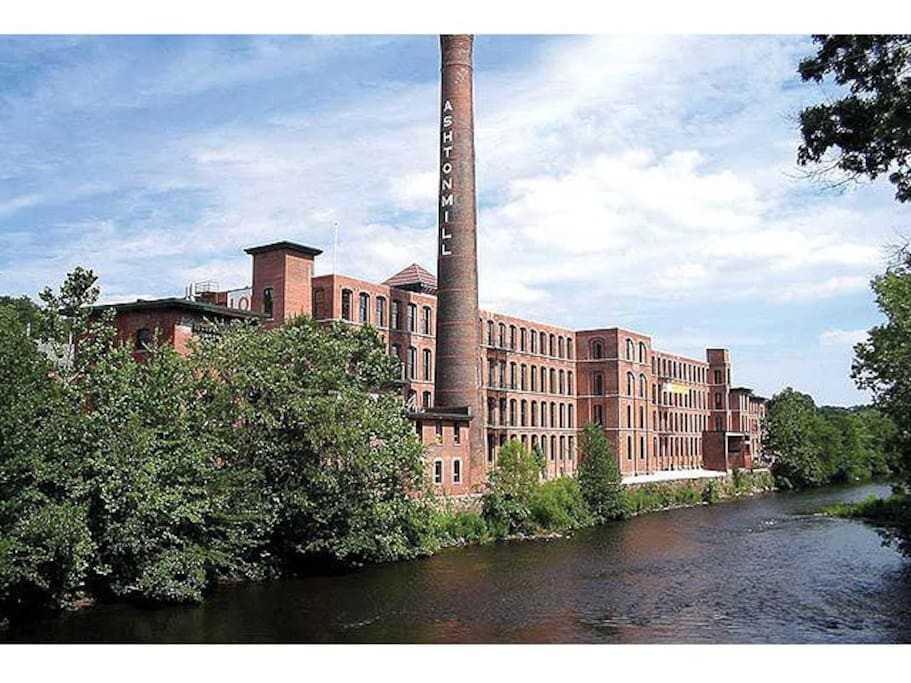 The Ashton Mill, circa 1864.  Cotton mill factory from America's Industrial Revolution.
