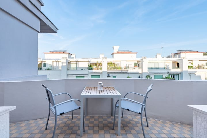 Calm and peaceful terrace