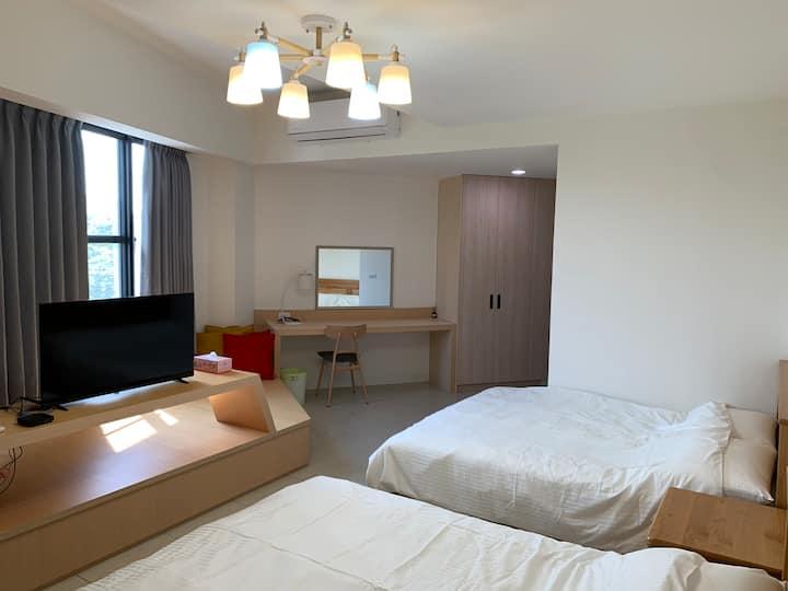 [台南小雅堂]獨立房間.兩張床