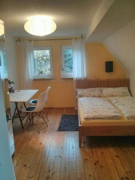 Gelbes zimmer mit fr hst ck chambres d 39 h tes louer for Chambre hote allemagne