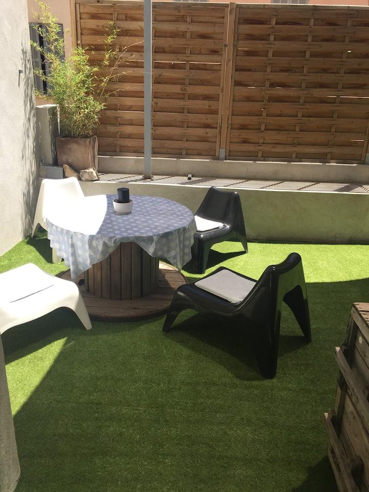Rare T2 meublé avec terrasse 32 m2 au  Mourillon