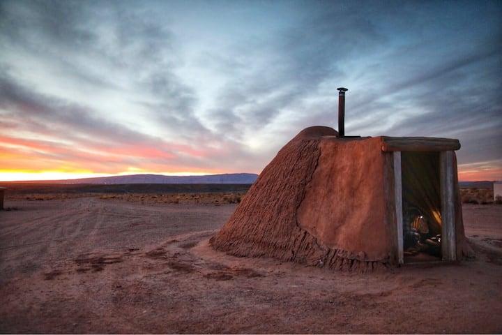Experience Hogan by the River - Navajo Hogan