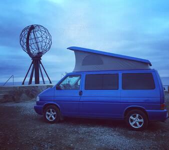 A big blue campervan - Camper