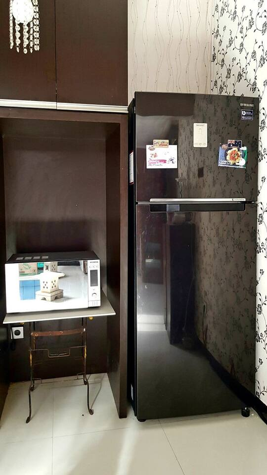 Conventional Mirowave oven and fridge