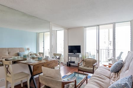 Oceanview Waikiki Condo Free Prkg 3 blks to beach - Honolulu - Appartement en résidence
