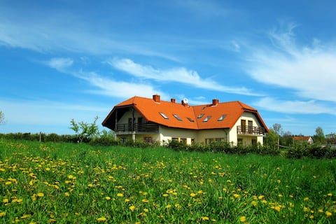 Beautiful house in Warmia by the forest and river