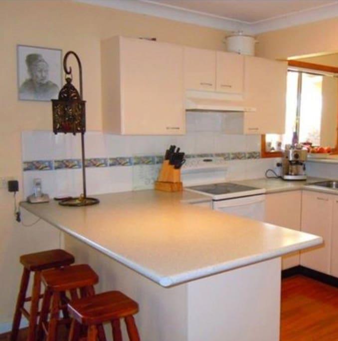Spacious shared kitchen Nespresso coffee machine dishwasher full kitchen facilities