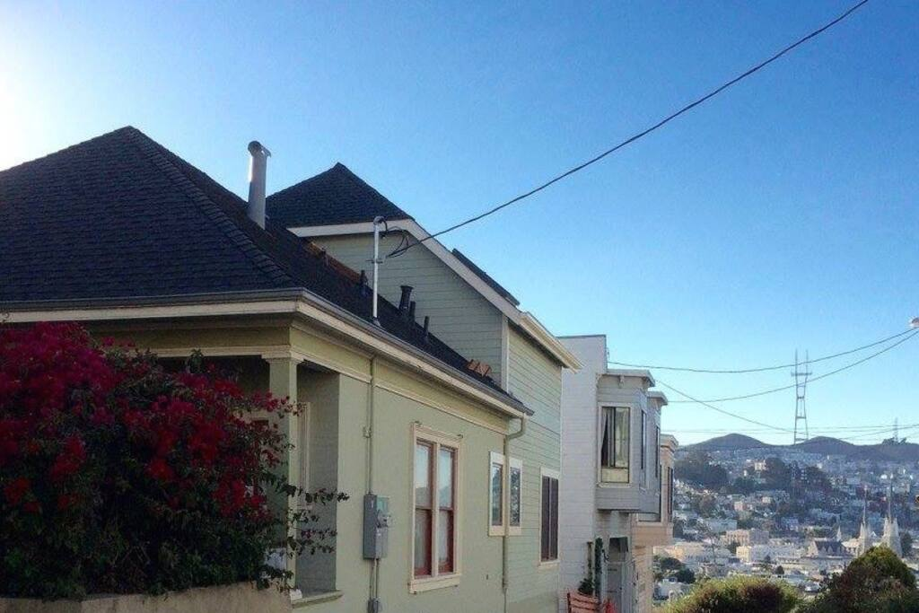 Scenic views from our Bernal Heights bungalow