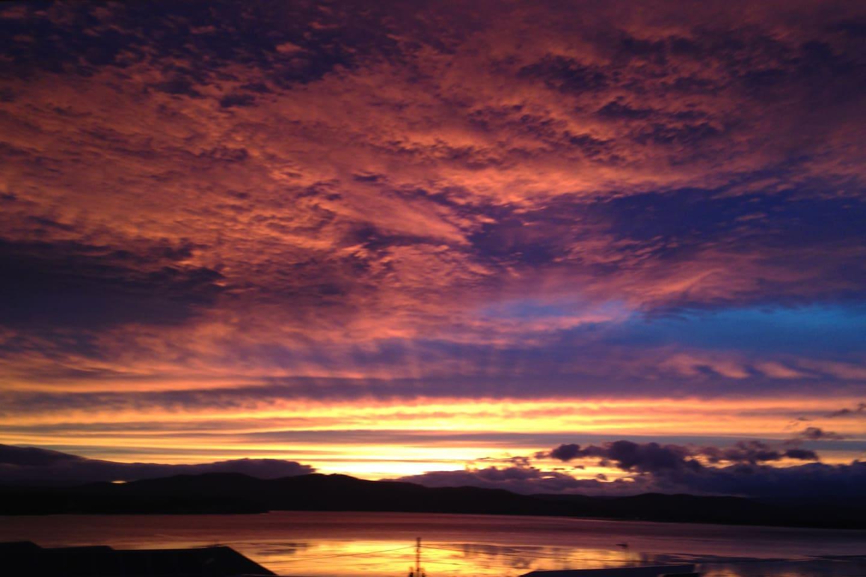 Akaroa sunset
