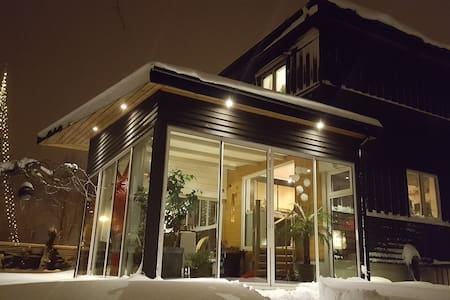 Functionalist House with Wood-heated Sauna Cabin - Huddinge