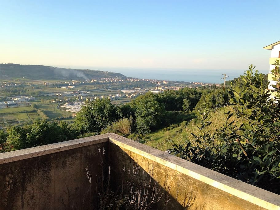 il panorama dal balcone