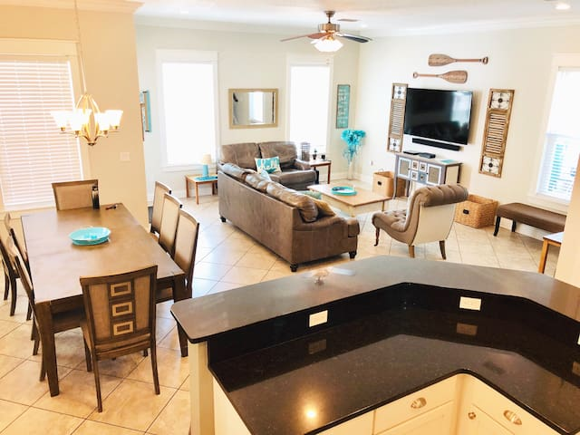 We have the biggest open concept first floor of all homes in the Villages