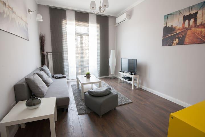 Modern top center apartment