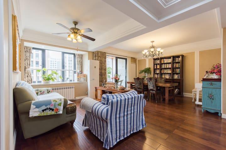 精美温馨的美式跃层公寓 独立卫生间 - Hangzhou - Lägenhet