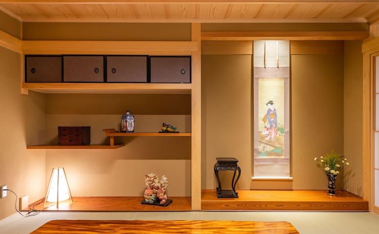Tatami room niche(榻榻米房壁龛)