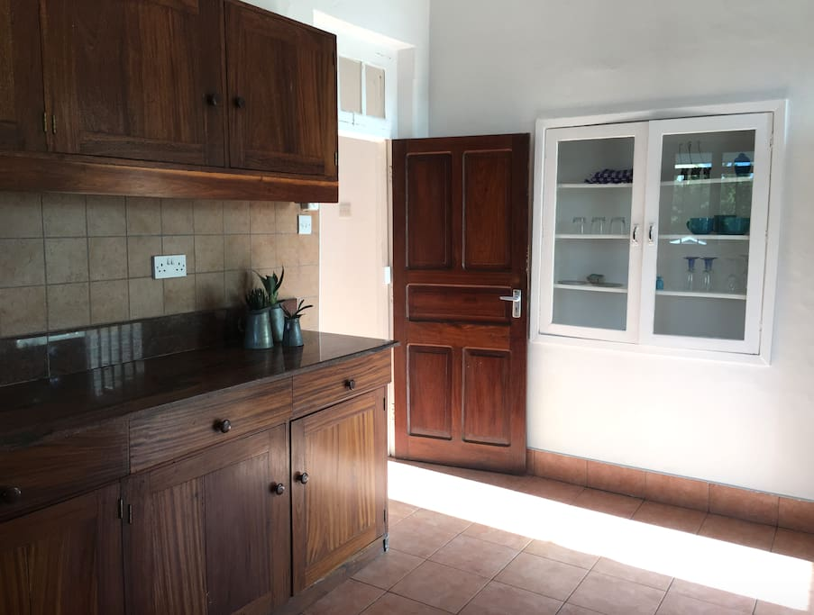Large kitchen with plenty of storage space