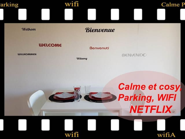 ★✩Joli studio-calme-cosy-parking-WIFI NETFLIX★✩
