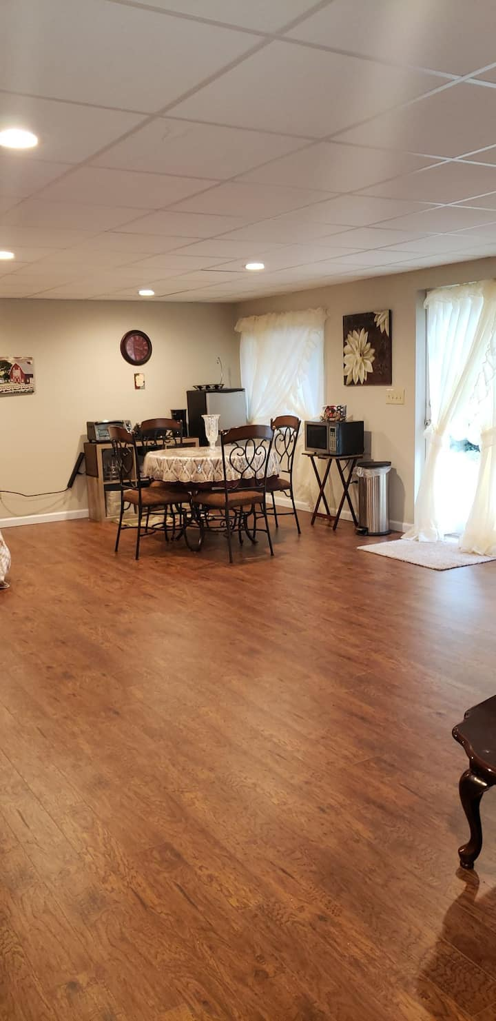 Lower level with coffee  bar 1 bedroom