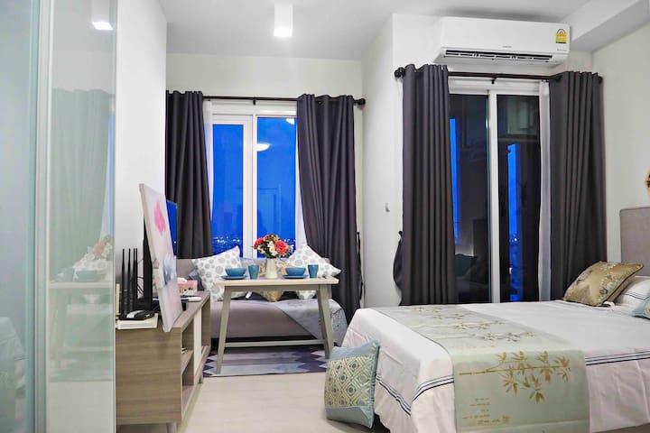 A12F全新公寓特惠中 网红泳池 辉煌 拉查达夜市
