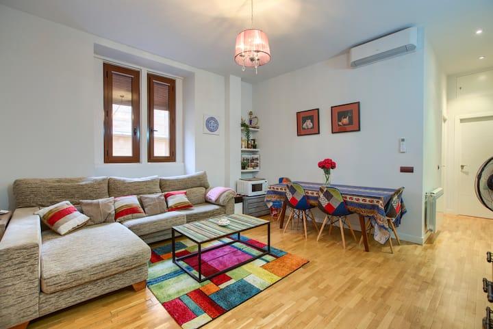 Beautiful Big Double-Bedroom APT - Madrid Centro