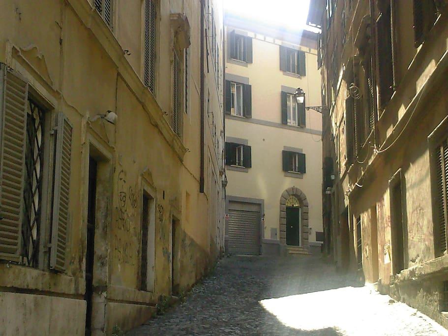 Via degli Ibernesi (from South)