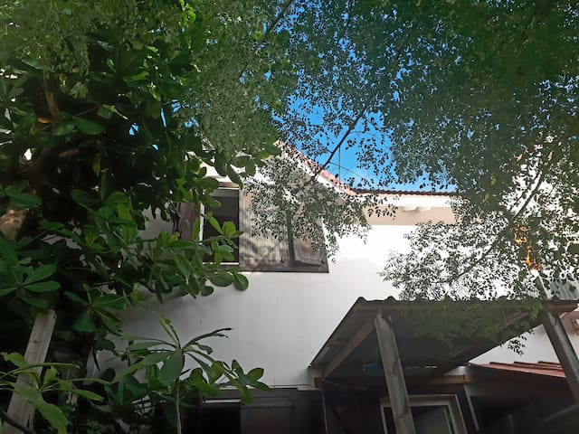 Double bdr in a creole house with tropical garden