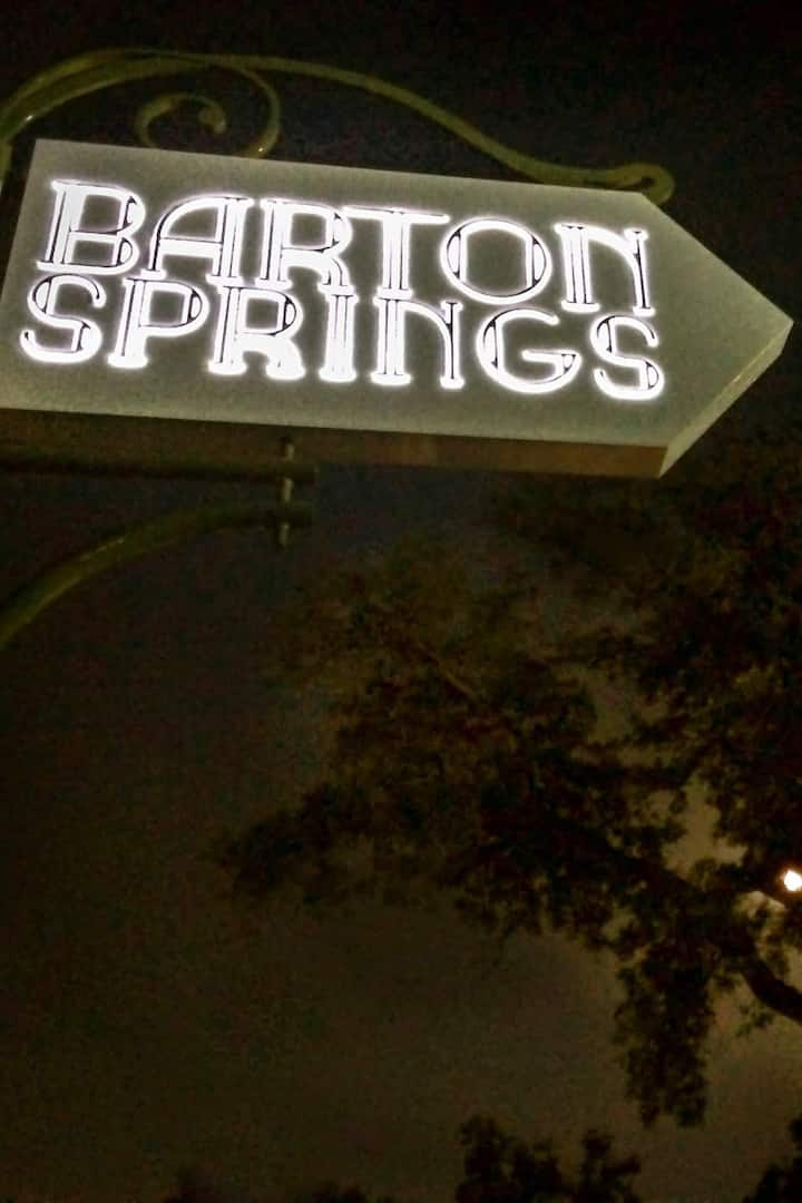 The Springs appear magical at night.