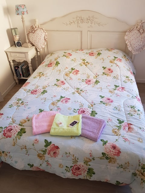 chambre grd lit pour 1 personne (frigo micro onde)